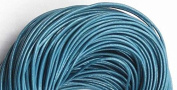 5 Metres 2mm Peacock Blue Round Geniune Leather Cord Jewellery Good for DIY Ideas