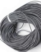 5 Metres 2mm Dark Grey Round Geniune Leather Cord Jewellery Good for DIY Ideas