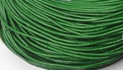 5 Metres 2mm Dark Green Round Geniune Leather Cord Jewellery Good for DIY Ideas