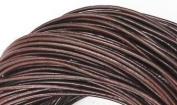 5 Metres 2mm Dark Brown Round Geniune Leather Cord Jewellery Good for DIY Ideas
