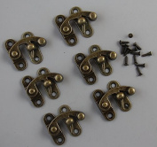 10 Pieces Antique Brass Plate Swing Lock Clasp Swing Bag Clasp Lock Box Latch Closure Chest Suitcase Case Swing Hook Clasp with screws