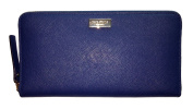 Kate Spade Newbury Lane Neda Saffiano Leather Zip Around Wallet Fench Navy Blue