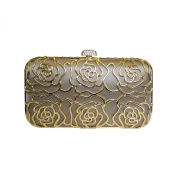 Anna Cecere Italian Designed Rosa Jewel Clutch Evening Cocktail Bag - Cream