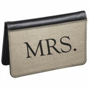 Snaptotes Slim Leather Accent Wedding Mrs. ID Debit Wallet
