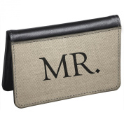 Snaptotes Slim Leather Accent Groom Mr. ID Debit Wallet