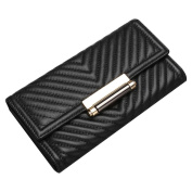 Contacts Women's Genuine Leather Ladies Wallets Long Alligator Wallet