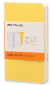 Moleskine Volant Journal (Set of 2), Extra Small, Ruled, Sunflower Yellow, Brass Yellow, Soft Cover