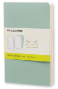 Moleskine Volant Journal (Set of 2), Pocket, Plain, Sage Green, Seaweed Green, Soft Cover