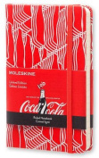 Moleskine Coca-Cola Limited Edition Notebook, Pocket, Ruled, Scarlet Red, Hard Cover