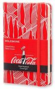 Moleskine Coca-Cola Limited Edition Notebook, Pocket, Ruled, Scarlet Red, Hard Cover