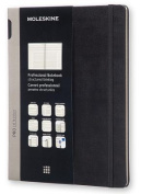 Moleskine Pro Collection Professional Notebook, Extra Large, Black, Hard Cover