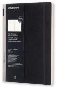Moleskine Pro Collection Workbook, A4, Plain, Black, Soft Cover