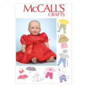 McCall Pattern Company M7066 Clothes and Accessories for 28cm to 30cm and 38cm to 41cm Baby Doll Sewing Template, One Size
