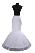 2 Hoop Mermaid Bridal Petticoat Half Slip Dress Underskirt P002