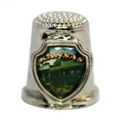 Souvenir Thimble - Kansas