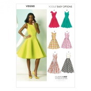 Vogue Patterns V8998 Misses' Dress Sewing Template, Size A5