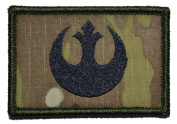 Rebel Alliance Emblem Star Wars 2x3 Military Patch / Morale Patch - Multicam