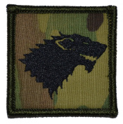 Stark Direwolf Crest - Winter is Coming 2x2 Military Patch / Morale Patch - Multicam