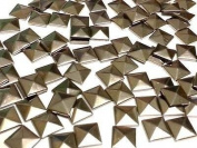 100 Metal Gunmetal HOT FIX Pyramid Studs Stick on Embellishments, Punk, Goth, DIY Fashion