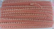 Old Rose Mini Pom Pom Fringe Ball Embroidered Woven Braid Trim Doll Rims 36 Yards