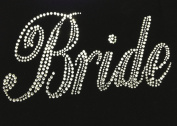 Bride Bridal Wedding Marriage Rhinestone Transfer Iron on Motif Hot Fix Bling Applique - DIY