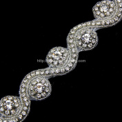 Crystal Rhinestone Trim Selling Per Yard