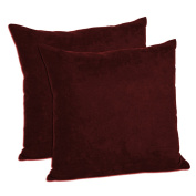 MoonRest - Pack of 2- Faux Suede Decorative Throw Pillow Case Cushion Cover