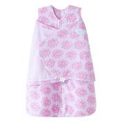 HALO SleepSack Micro Fleece Swaddle, Pink Floral Burst, Small