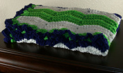 Seattle Seahawks Inspired Blanket Snuggy Size 80cm X 80cm