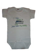 Seahawks Inspired Baby Bodysuit Size 0-6 MO