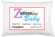 Toddler Pillow - Best Pillows for Kids and Children! Soft Hypoallergenic - Perfectly Filled - Not Too Fluffy, Not Too Flat - Designed Specifically For Toddlers BY Parents - Use For Sleeping or Travel - Provides Better Support and Comfort - High Quality ..