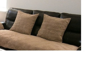 Quilted Bonded or Classic Micro Suede Sectional Sofa Slipcovers Pads in Different Colour and Size (Peat / Taupe, 50cm x 50cm