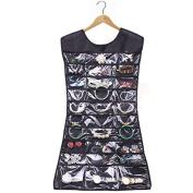 HuaYang Practical Dress Shape Jewellery Organiser Little Pockets Storage Hanging Bag