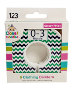 #C123 Green Navy Boy Baby Closet Dividers Clothes Organisers Set of 6