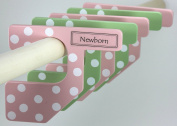 The Happy Closet Baby Closet Dividers, Pink and Green