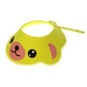 FACILLA® Baby Kid Toddler Bath Shower Cap Hat Wash Hair Shampoo Shield Adjustable Yellow
