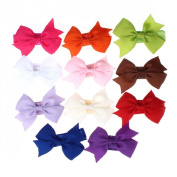 Culater® 11PC Children Baby Girl Elastic Headband Bowknot Photography Headbands