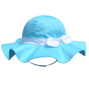 Children's Outdoor Sun Beach Hat With Bow For Baby Girls