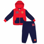 Manchester United FC Official Gift Baby Boys Jogset Tracksuit Red