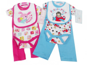 BNWT baby boys or girls 3 piece pink or blue cotton layette set