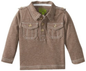 Kapital K Baby-Boys Infant Signature Jersey Polo, Iced Mocha, 12 Months Colour