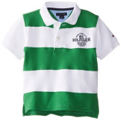 Tommy Hilfiger Baby-Boys Infant Short Sleeve Kent Pieced Polo, Gecco Grey, 24 Months Colour