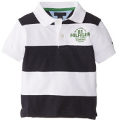 Tommy Hilfiger Baby-Boys Infant Short Sleeve Kent Pieced Polo, Swim Navy, 18 Months Colour