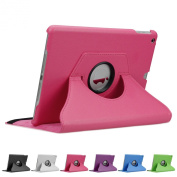 Doupi 360° PU Leatherette Deluxe Slipcover for Apple iPad 2 3 4 Case Cover 360 Deg Rotatable Kickstand Protective Pouch Pocket Sleeve Display Protection Pink pink Für iPad 6 / iPad Air 2