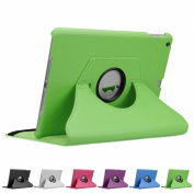 Doupi 360° PU Leatherette Deluxe Slipcover for Apple iPad 2 3 4 Case Cover 360 Deg Rotatable Kickstand Protective Pouch Pocket Sleeve Display Protection Green green Für iPad 6 / iPad Air 2