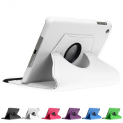 Doupi 360° PU Leatherette Deluxe Slipcover for Apple iPad 2 3 4 Case Cover 360 Deg Rotatable Kickstand Protective Pouch Pocket Sleeve Display Protection White white Für iPad mini 1/2/3 Retina