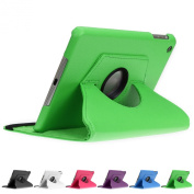 Doupi 360° PU Leatherette Deluxe Slipcover for Apple iPad 2 3 4 Case Cover 360 Deg Rotatable Kickstand Protective Pouch Pocket Sleeve Display Protection Green green Für iPad mini 1/2/3 Retina