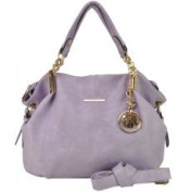 VK1560 Purple - New Look Slouch Bag With Metal Detail