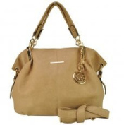 VK1560 Beige - New Look Slouch Bag With Metal Detail