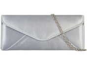 Womens Ladies Satin Fold Over Flap Prom Party Evening Dressy Occasion Fashion Hand Clutch Bag - M15